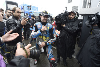 Thomas Luthi, Estrella Galicia 0,0 Marc VDS, verlaat de Safety commission meeting
