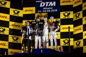 Podium: Race winner Joel Eriksson, BMW Team RBM, second place Edoardo Mortara, Mercedes-AMG Team HWA and third place René Rast, Audi Sport Team Rosberg