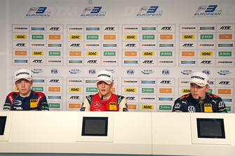 Press conference, Robert Shwartzman, PREMA Theodore Racing Dallara F317 - Mercedes-Benz, Mick Schumacher, PREMA Theodore Racing Dallara F317 - Mercedes-Benz, Dan Ticktum, Motopark Dallara F317 - Volkswagen