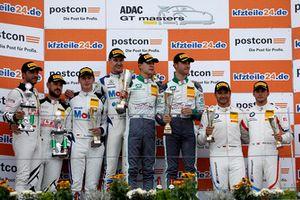 Trophy Podium: Winner #20 Team Zakspeed BKK Mobil Oil Racing Mercedes-AMG GT3: Kim-Luis Schramm, Nicolai Sylvest, second place #20 Team Zakspeed BKK Mobil Oil Racing Mercedes-AMG GT3: Kim-Luis Schramm, Nicolai Sylvest, third place #42 BMW Team Schnitzer BMW M6 GT3: Mikkel Jensen, Timo Scheider, #69 IronForce by RING POLICE Porsche 911 GT3 R: Jan-Erik Slooten, Lucas Luhr