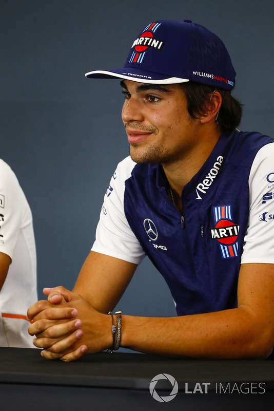 Lance Stroll, Williams Racing, in the Thursday press conference