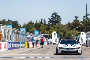 The Qualcomm BMW i8 Safety car on the grid