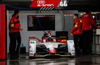 Daniel Abt, Audi Sport ABT Schaeffler, Audi e-tron FE05 prepares to leave the garage