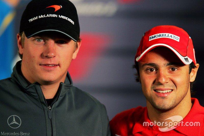 Kimi Raikkonen, McLaren y Felipe Massa