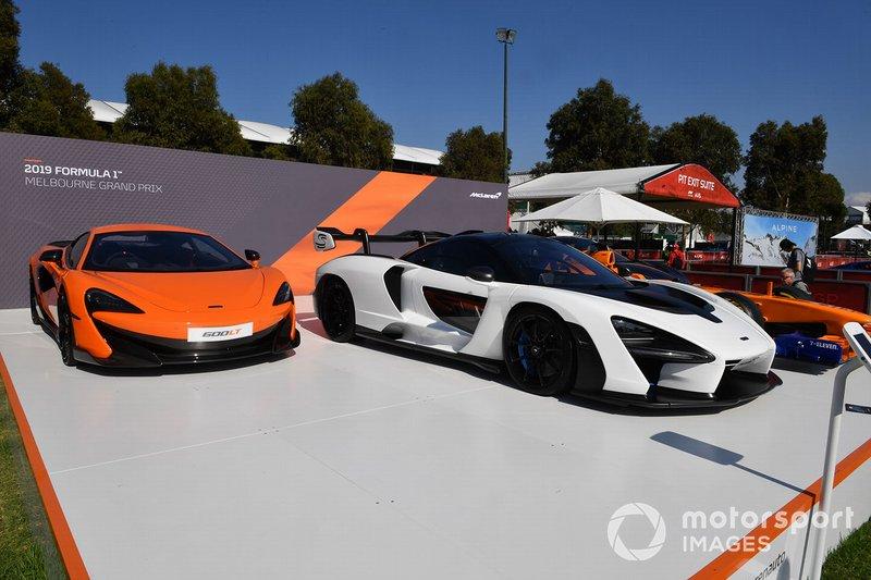 McLaren cars in Albert Park