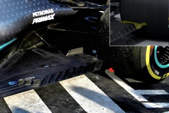 Mercedes AMG F1 W10 floor