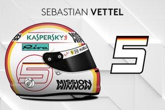 El casco 2019 de Sebastian Vettel