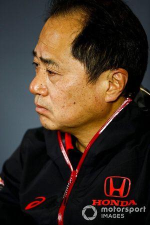 Toyoharu Tanabe, directeur technique F1 de Honda, lors de la conférence de presse du vendredi
