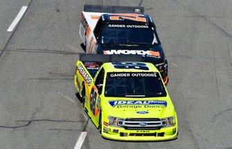 Matt Crafton, ThorSport Racing, Ford F-150 Ideal Door/Menards and Brett Moffitt, GMS Racing, Chevrolet Silverado Worx Garden & Power Tools