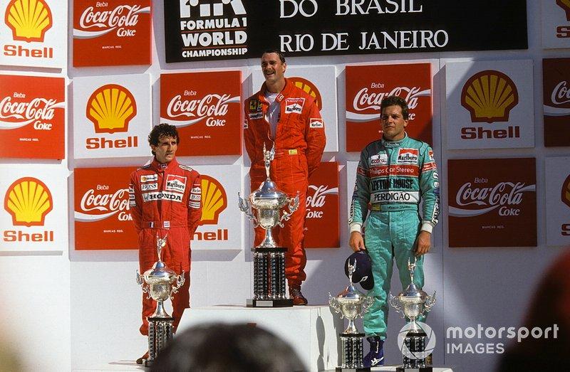 Mauricio Gugelmin lució Perdigão en su mono y coche de March.
