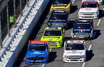 Stewart Friesen, Halmar Friesen Racing, Chevrolet Silverado Halmar International and Myatt Snider, ThorSport Racing, Ford F-150 TaxSlayer