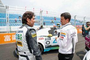 Cacá Bueno, Jaguar Brazil Racing, on the grid