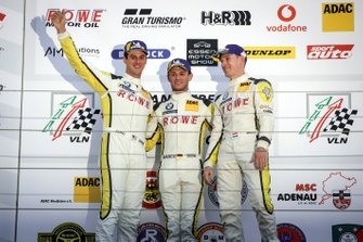 Podium: winnaars #99 ROWE Racing BMW M6 GT3: Nick Catsburg, Marco Wittmann, John Edwards