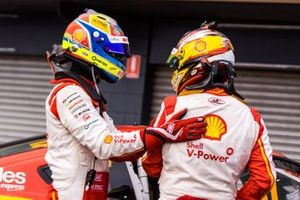 Race winner Scott McLaughlin, DJR Team Penske Ford, second place Fabian Coulthard, DJR Team Penske Ford,
