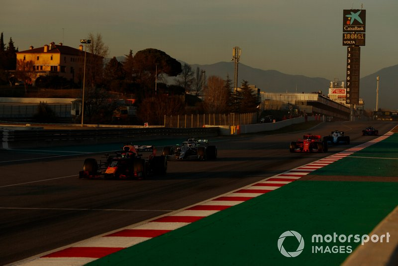 Pierre Gasly, Red Bull Racing RB15, Valtteri Bottas, Mercedes-AMG F1 W10 e Sebastian Vettel, Ferrari SF90