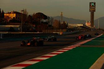 Pierre Gasly, Red Bull Racing RB15, Valtteri Bottas, Mercedes-AMG F1 W10 and Sebastian Vettel, Ferrari SF90