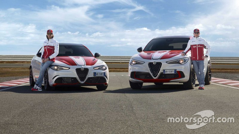 Кімі Райкконен, Антоніо Джовінацці, Stelvio Quadrifoglio, Giulia Quadrifoglio Alfa Romeo Racing