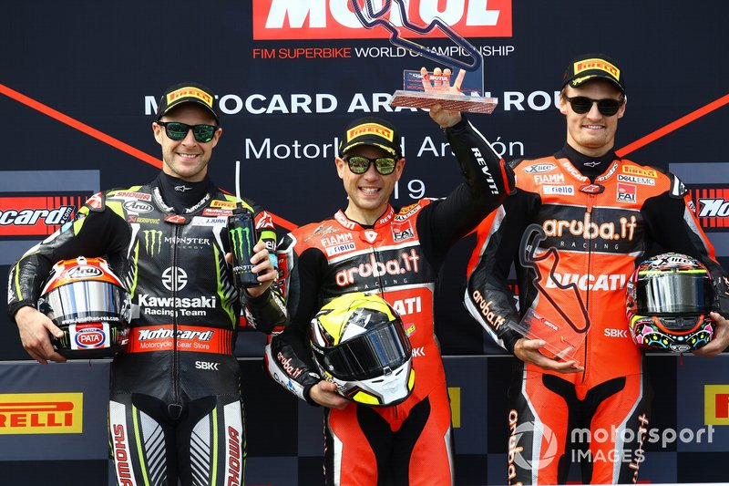 Jonathan Rea, Kawasaki Racing, Alvaro Bautista, Aruba.it Racing-Ducati Team, Chaz Davies, Aruba.it Racing-Ducati Team