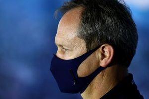 Paul Monaghan, ingénieur en chef Red Bull Racing, lors de la conférence de presse des directeurs d'écuries
