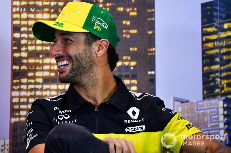 Daniel Ricciardo, Renault F1 Team, in conferenza stampa