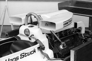 The banning of the high air boxes brought a number of new designs. This is the air box for the March 761 of Hans-Joachim Stuck