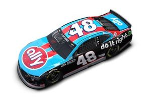 Jimmie Johnson Ally throwback livery