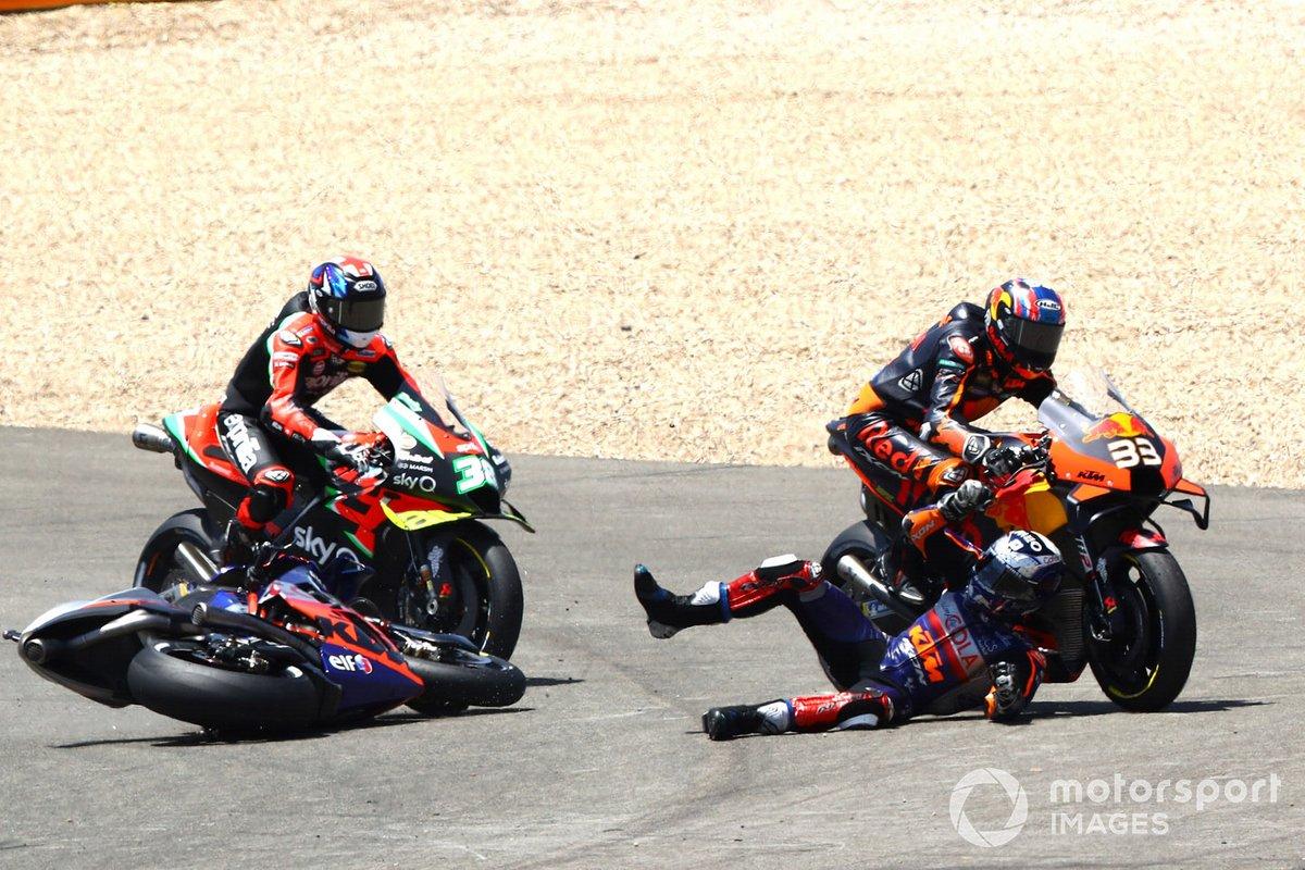 Caduta di Miguel Oliveira, Red Bull KTM Tech 3