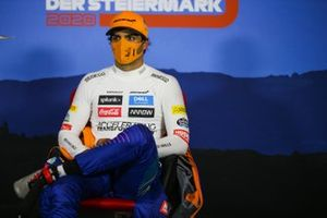 Carlos Sainz Jr., McLaren, in the post-qualifying press conference