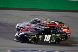 Daniel Hemric and Riley Herbst, Joe Gibbs Racing, Toyota Supra Monster Energy and Justin Allgaier, JR Motorsports, Chevrolet Camaro Thank You Team BRANDT