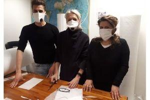 Производство масок на фабрике шинной компании LeCont