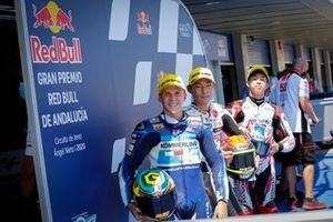 Top 3 after Q2: Gabriel Rodrigo, Gresini Racing, Tatsuki Suzuki, SIC58 Squadra Corse, Ai Ogura, Honda Team Asia