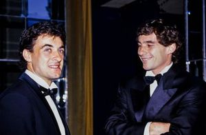Jean Alesi and Ayrton Senna