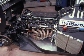 A Honda 3.5 V10 engine in a Tyrrell 020