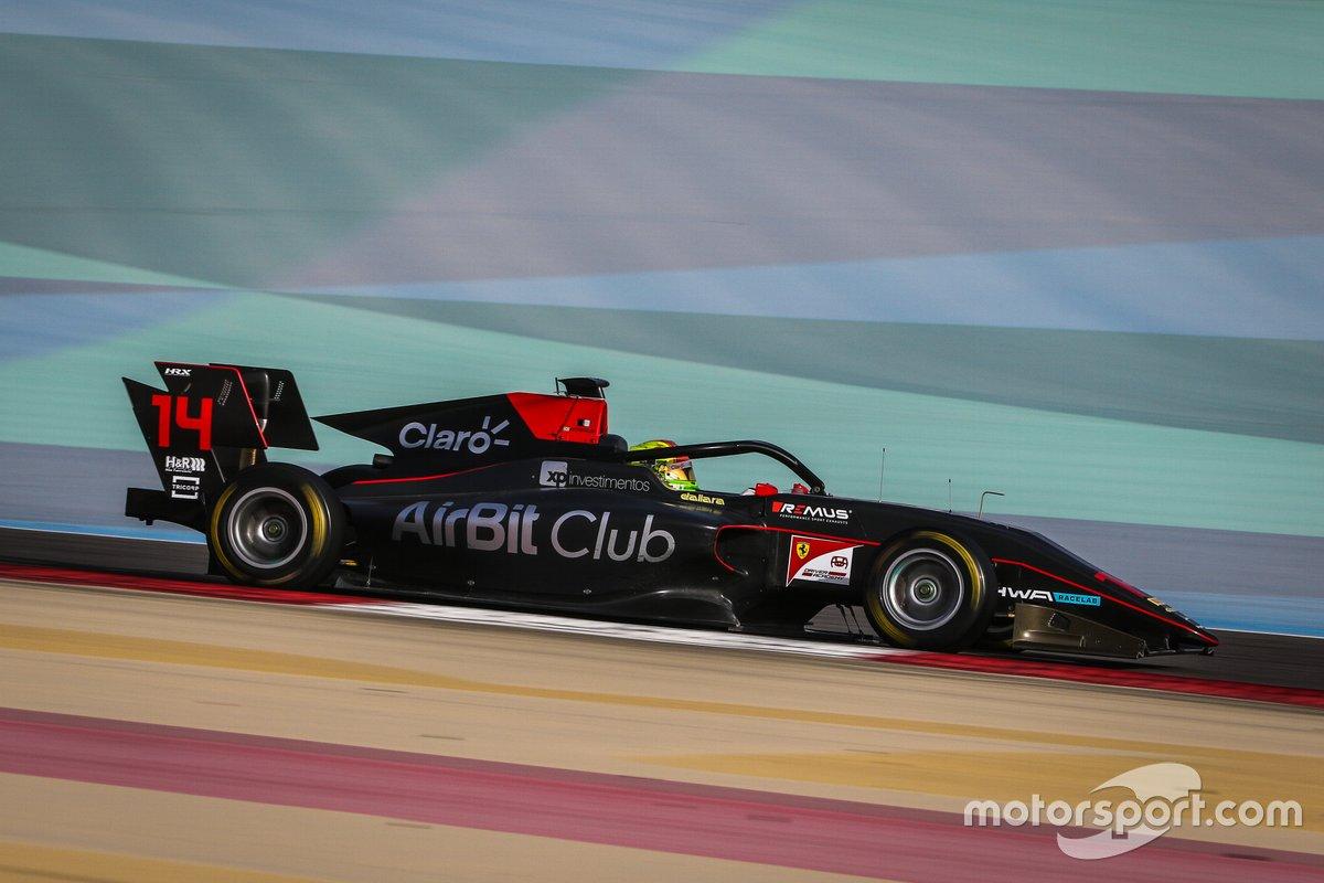 Enzo Fittipaldi testando na F3