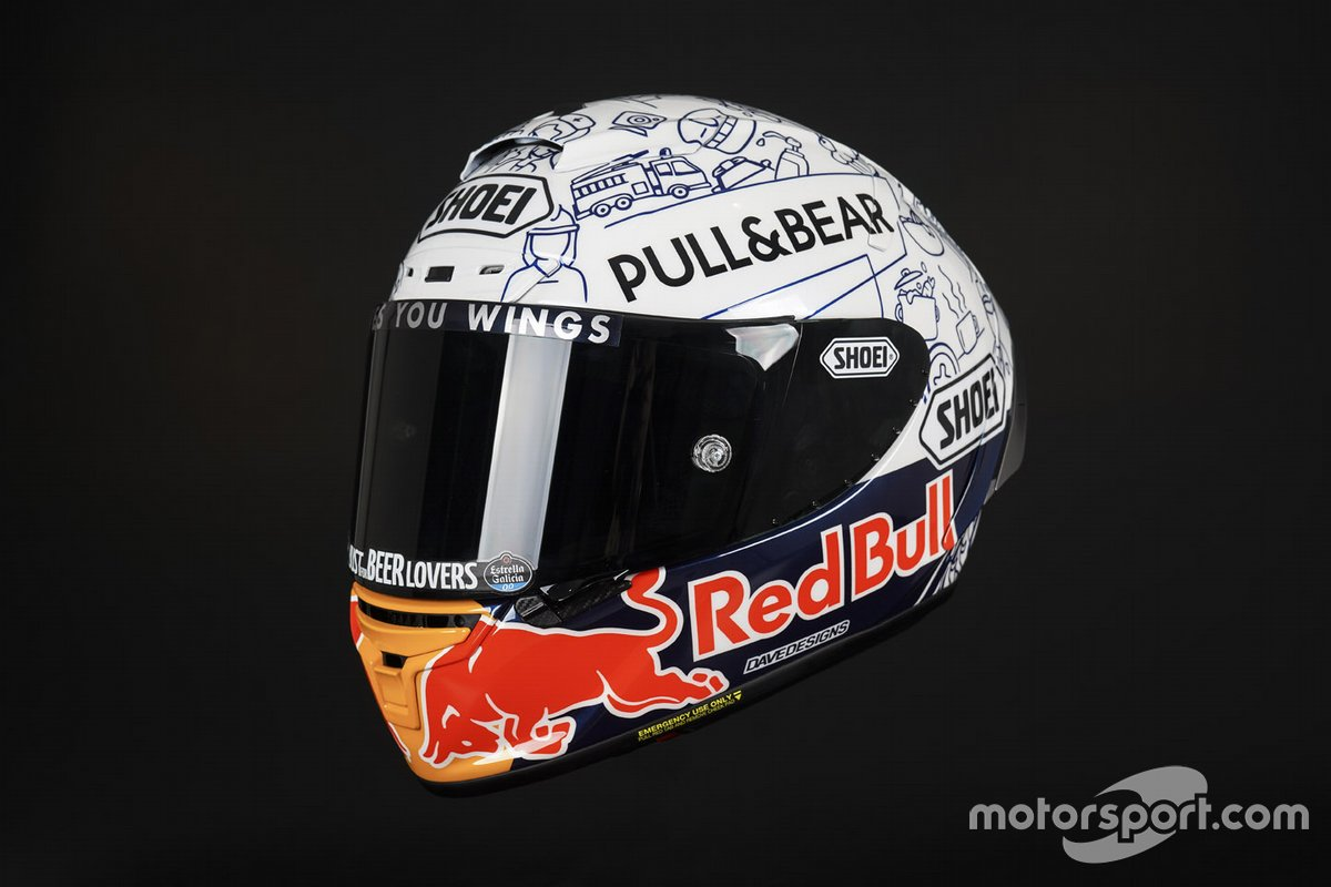 Casco di Alex Marquez, Repsol Honda Team