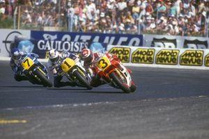 Eddie Lawson, Marlboro Yamaha Team Agostini, Wayne Gardner, Rothmans Honda/HRC, Christian Sarron, Team Gauloises Blondes Yamaha Mobil 1