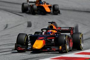 Yuki Tsunoda, Carlin, leads Guilherme Samaia, Campos Racing