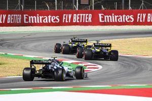 Pierre Gasly, AlphaTauri AT01, Daniel Ricciardo, Renault F1 Team R.S.20 y Esteban Ocon, Renault F1 Team R.S.20