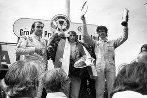 Race Winner Jackie Stewart, Tyrrell, Francois Cevert,Tyrrell, Clay Regazzoni, Ferrari
