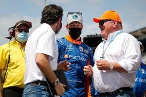 Scott Dixon, Chip Ganassi Racing Honda remporte la récompense NTT Data P1 pour la pole position, Dario Franchitti, Chip Ganassi