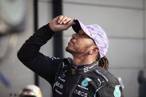 Pole man Lewis Hamilton, Mercedes, after Qualifying