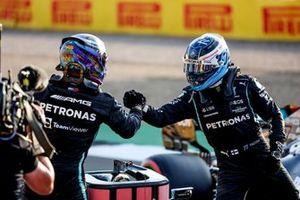 Poleman Lewis Hamilton, Mercedes, Valtteri Bottas, Mercedes