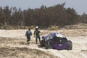 Cristina Gutierrez, Sebastien Loeb, X44 crashes out of the final race