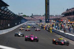 Conor Daly, Ed Carpenter Racing Chevrolet, Jack Harvey, Meyer Shank Racing Honda, Josef Newgarden Penske Chevrolet