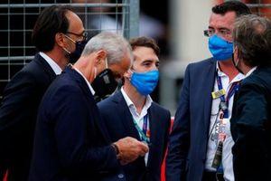 Eric Boullier (rechts) directeur Grand Prix van Frankrijk