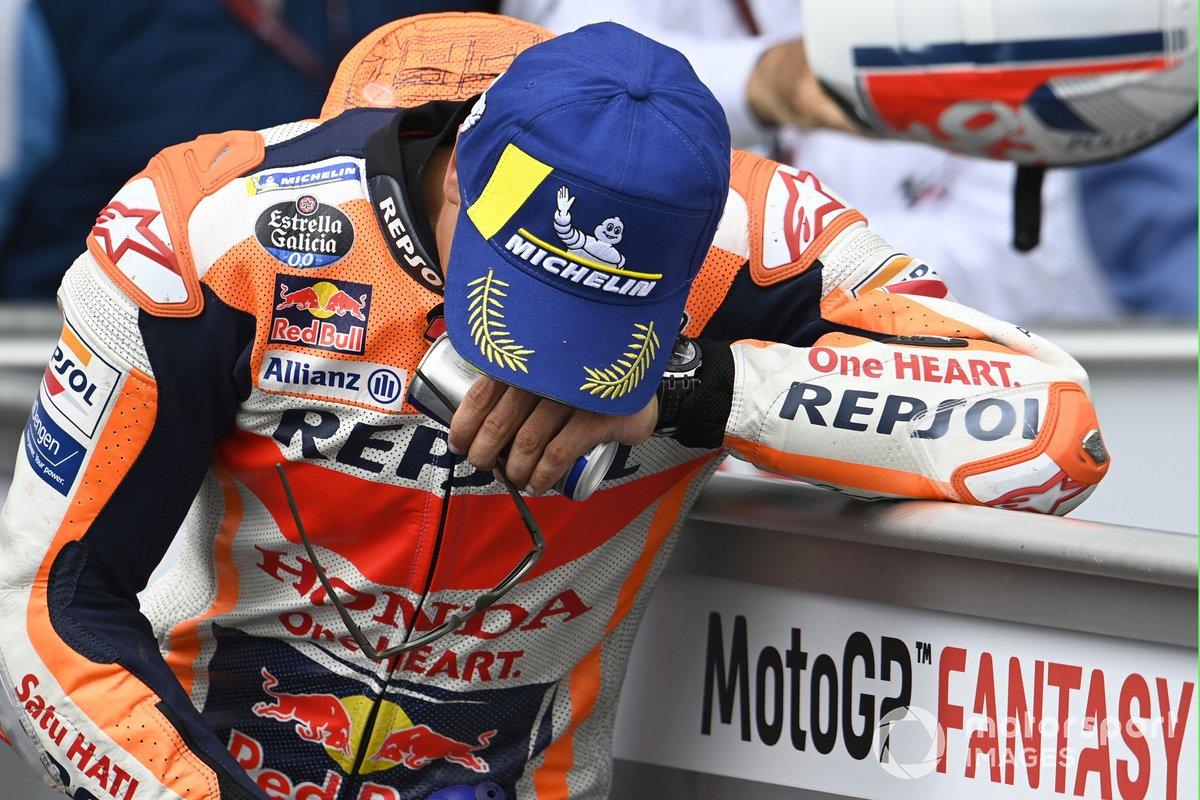 Ganador Marc Márquez, Repsol Honda Team en Parc Ferme