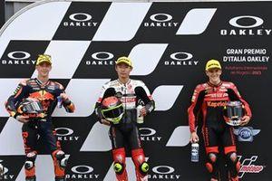 Polesitter Tatsuki Suzuki, SIC58 Squadra Corse, 2. Pedro Acosta, 3. Gabriel Rodrigo