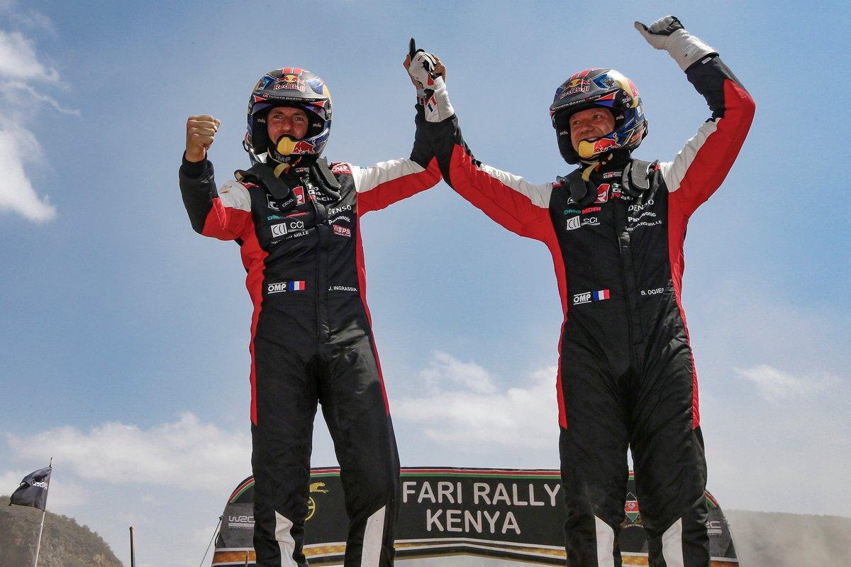 Ganadores Sébastien Ogier, Julien Ingrassia, Toyota Gazoo Racing WRT Toyota Yaris WRC
