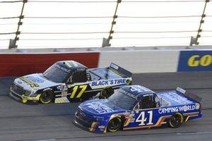 #41: Dawson Cram, Cram Enterprises, Chevrolet Silverado, #17: David Gilliland, Team DGR, Ford F-150 Black's Tire