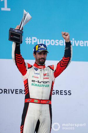 Lucas Di Grassi, Audi Sport ABT Schaeffler, third position, lifts his trophy